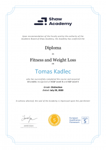 Tomáš Kadlec - Fitness and weight loss - Shaw academy