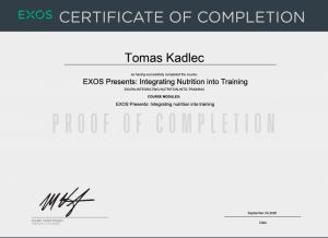 Exos Nutrition - Tomáš Kadlec