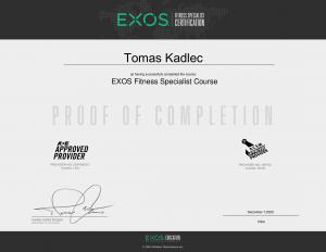 exos fitness specialist tomas kadlec tomax