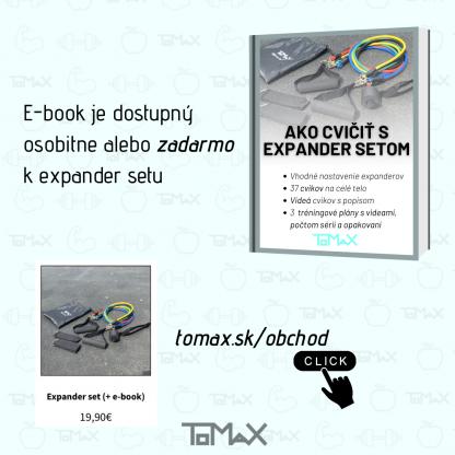 Ako cvičiť s expander setom - Tomax e-book